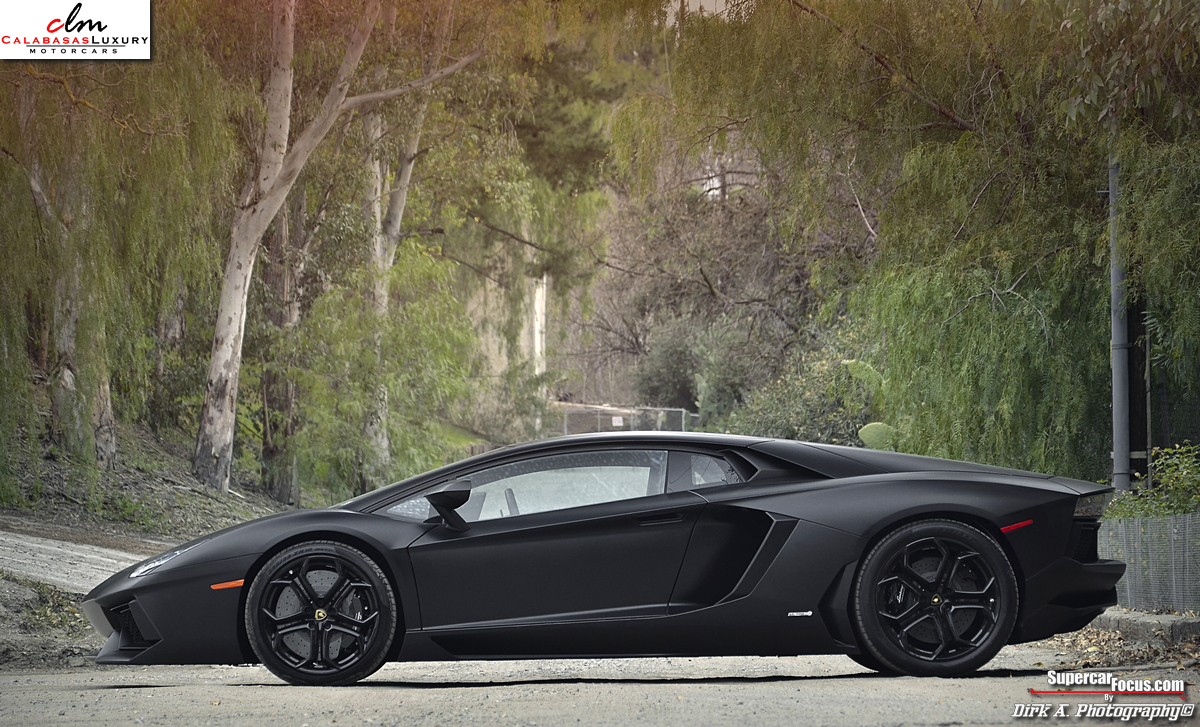 For Sale: Matte Black Lamborghini Aventador LP700-4