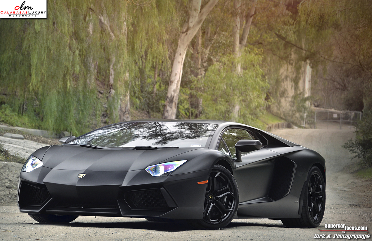 for sale matte black lamborghini aventador lp700 4. Black Bedroom Furniture Sets. Home Design Ideas