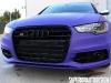 Matte Purple Wrapped 2013 Audi S6