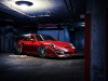 Matte Red Porsche 997.2 Turbo on ADV.1 Wheels