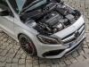 The new A-Class, Dresden 2015,Pressefahrveranstaltung Mercedes Benz, A 45 AMG 4Matic, Dresden September 2015, polarsilber metallic, Leder perforiert schwarz RED CUT, 7G-DCT Doppelkupplungsgetriebe