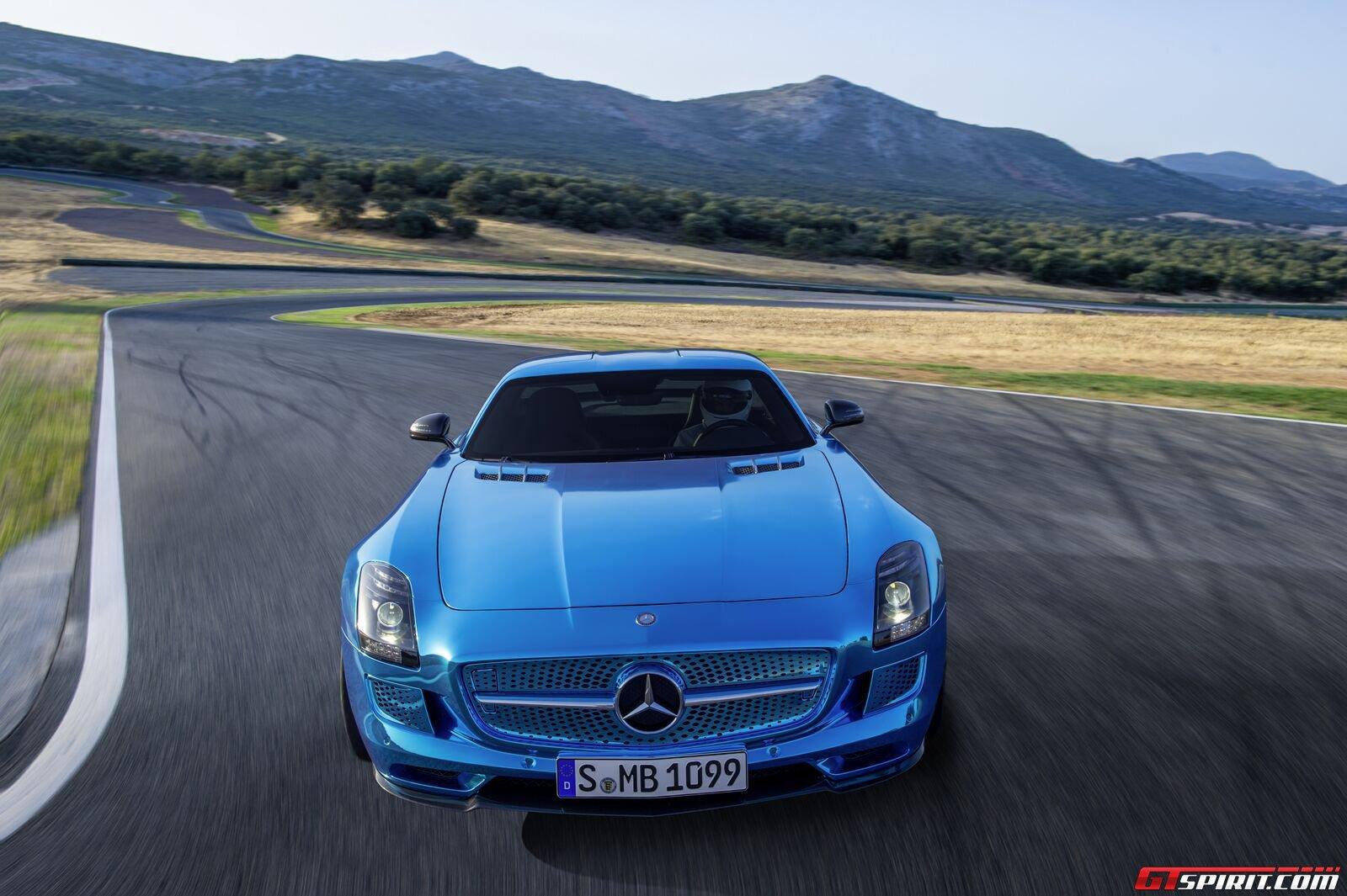 Color mercedes benz sls amg electric drive 6speedonline for Mercedes benz electric