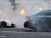 Mercedes C63 AMG Burnout in London