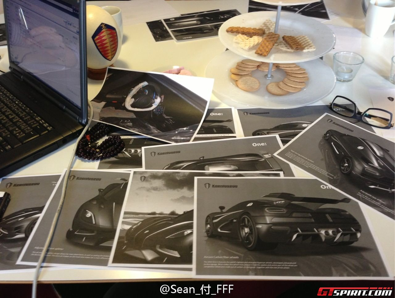 Mysterious Koenigsegg One 1 Design Drawings Photo 2