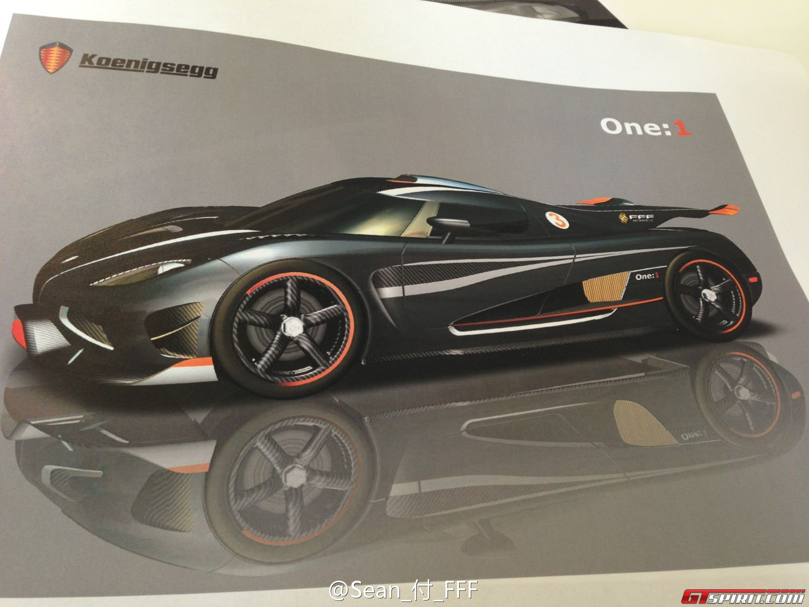 Mysterious Koenigsegg One 1 Design Drawings Photo 3
