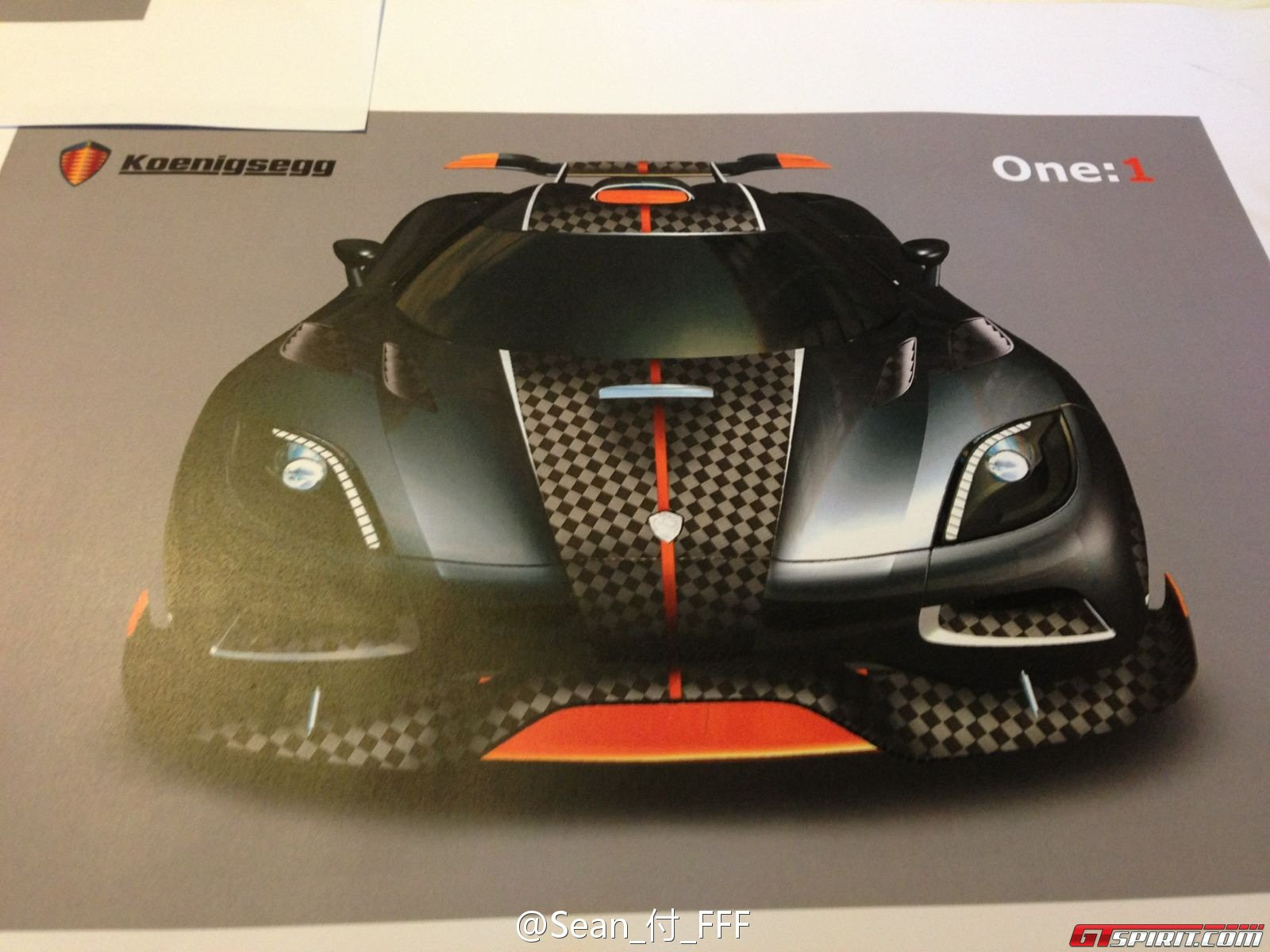 Mysterious Koenigsegg One 1 Design Drawings Photo 4