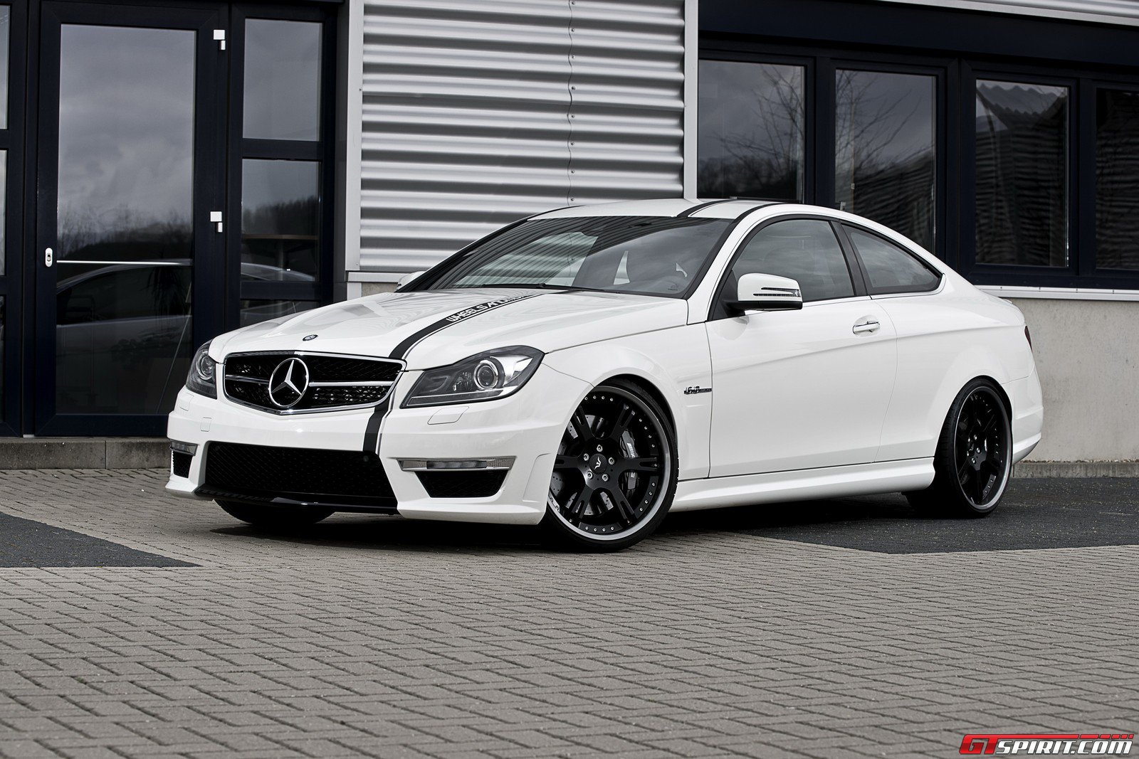 White c63 coupe on 20 39 s and coilovers by wheelsandmore for Mercedes benz helms