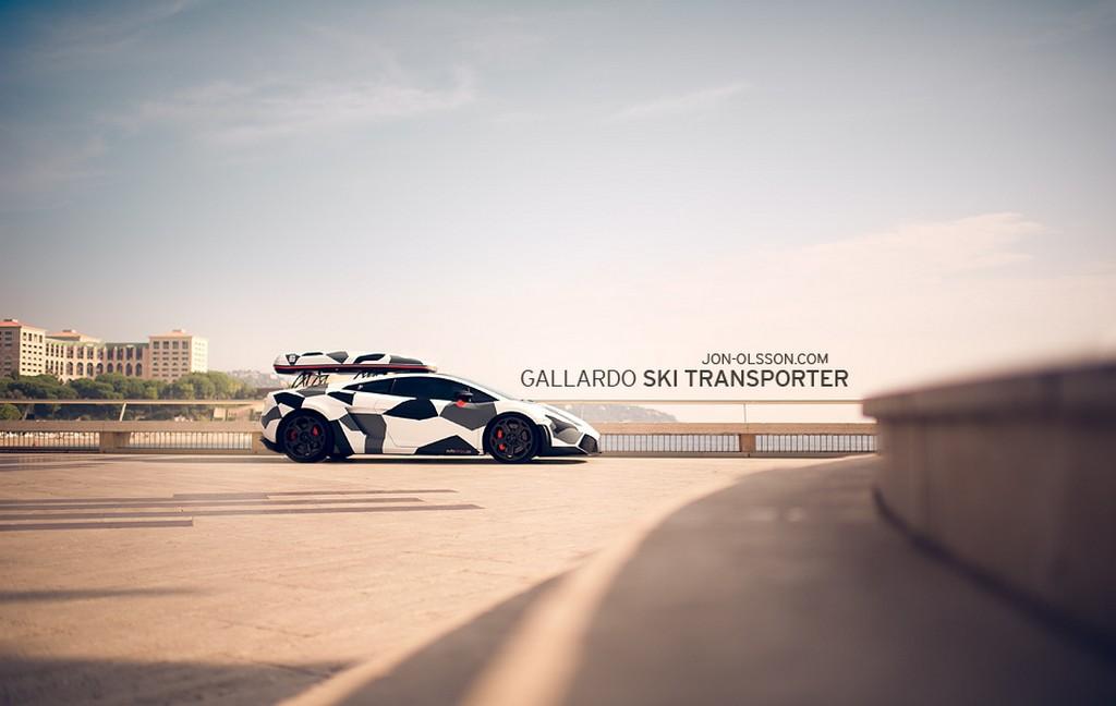 Official Jon Olsson's DMC Gallardo Ski Transporter