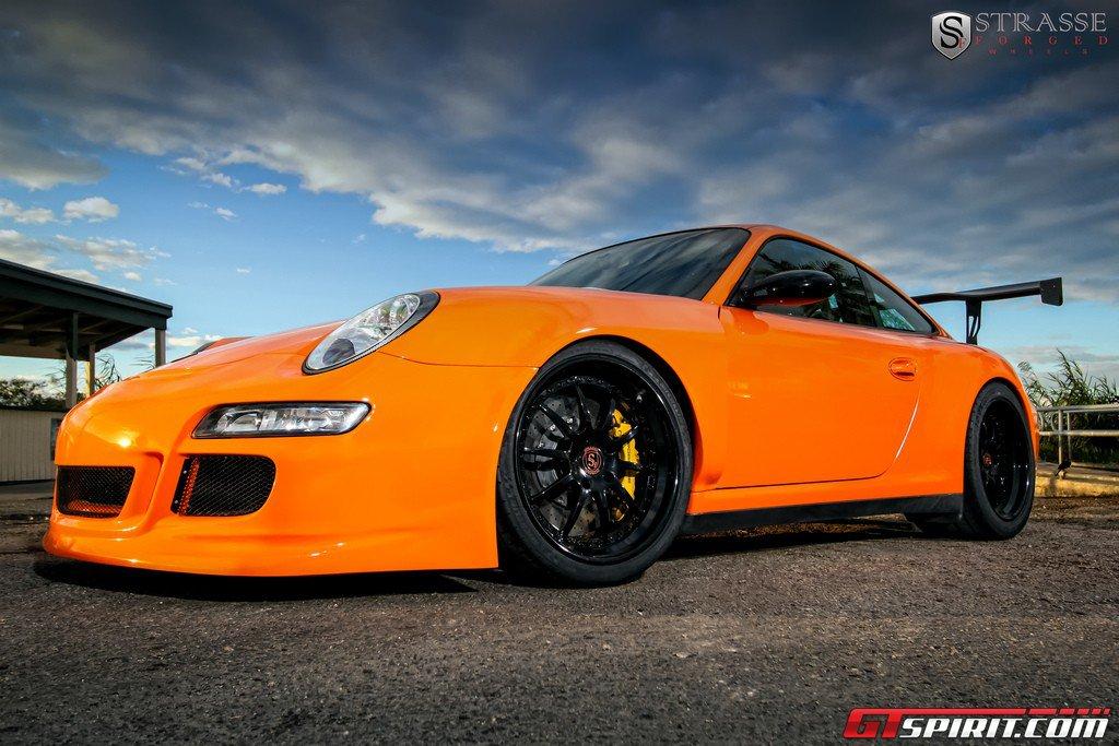 orange porsche 911 gt3 rs on r10 strasse forged wheels. Black Bedroom Furniture Sets. Home Design Ideas