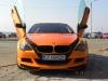 Bright Orange BMW M6 with scissor doors