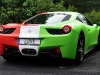 Overkill Ferrari 458 Italia with Italian Flag Wrap