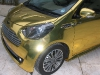 Overkill Golden Aston Martin Cygnet