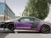 Pearlescent Audi R8 Crashed in Dubai