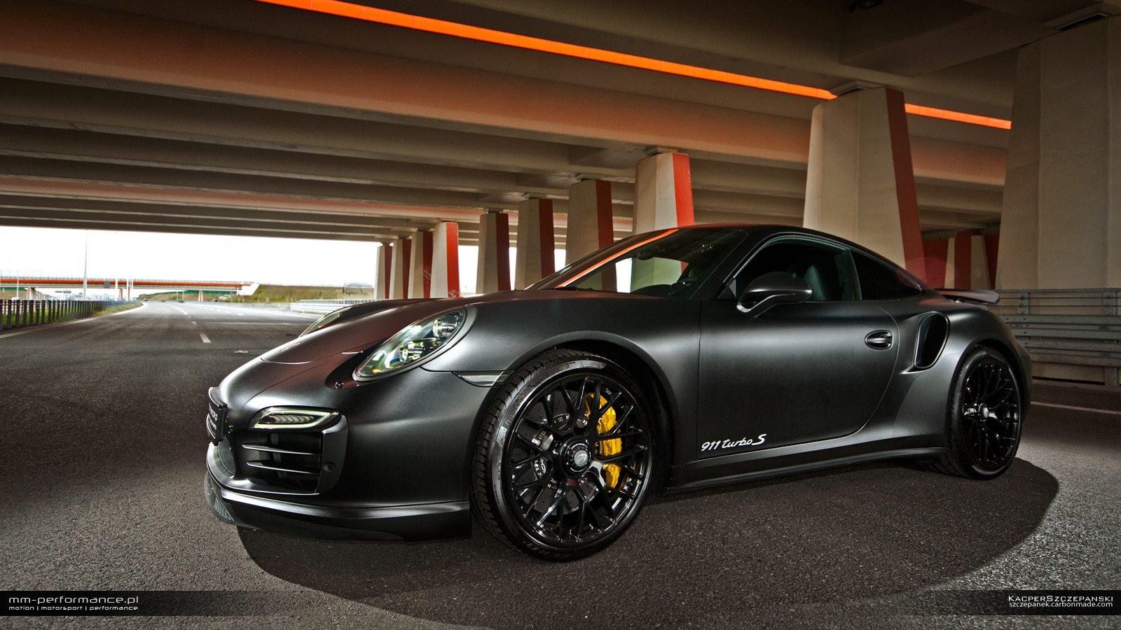 porsche 911 turbo black wallpaper. 2014 mmperformance porsche 911 turbo s black wallpaper b