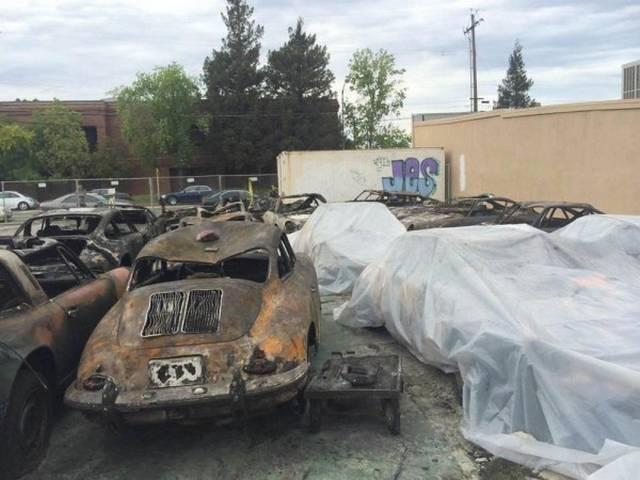Результаты пожара на стоянке PM Motorsports