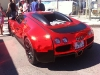 Spotted Bugatti Veyron Red Chrome Wrap in St. Tropez