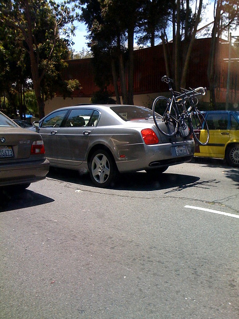Bentley Continental Flying Spur With Bike Rack