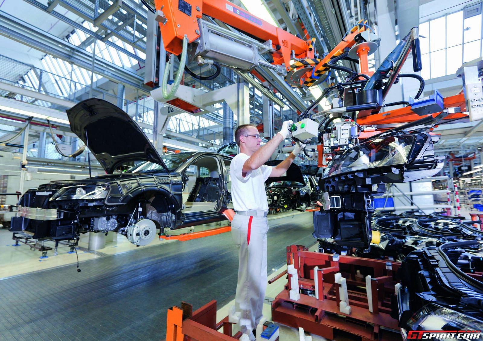 Завод Audi в Ингольштадте, Германия
