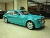 Turquoise Rolls-Royce Phantom in Doha Qatar
