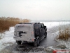 Two Hummer H2's Fall Through Ice in Hungary