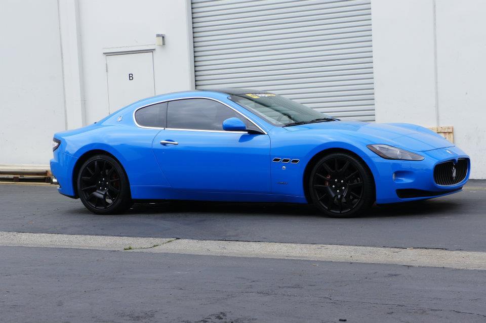 Maserati granturismo blue - photo#8