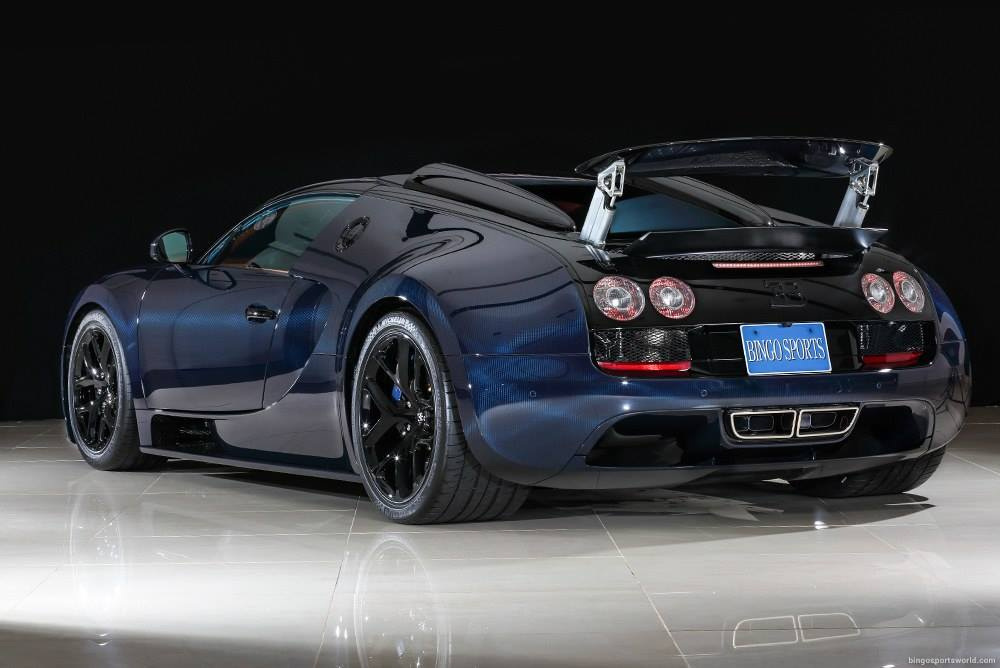 For Sale Unique Blue Carbon Bugatti Veyron Vitesse In Japan
