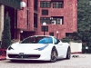 White Ferrari 458 Italia on ADV.1 Wheels