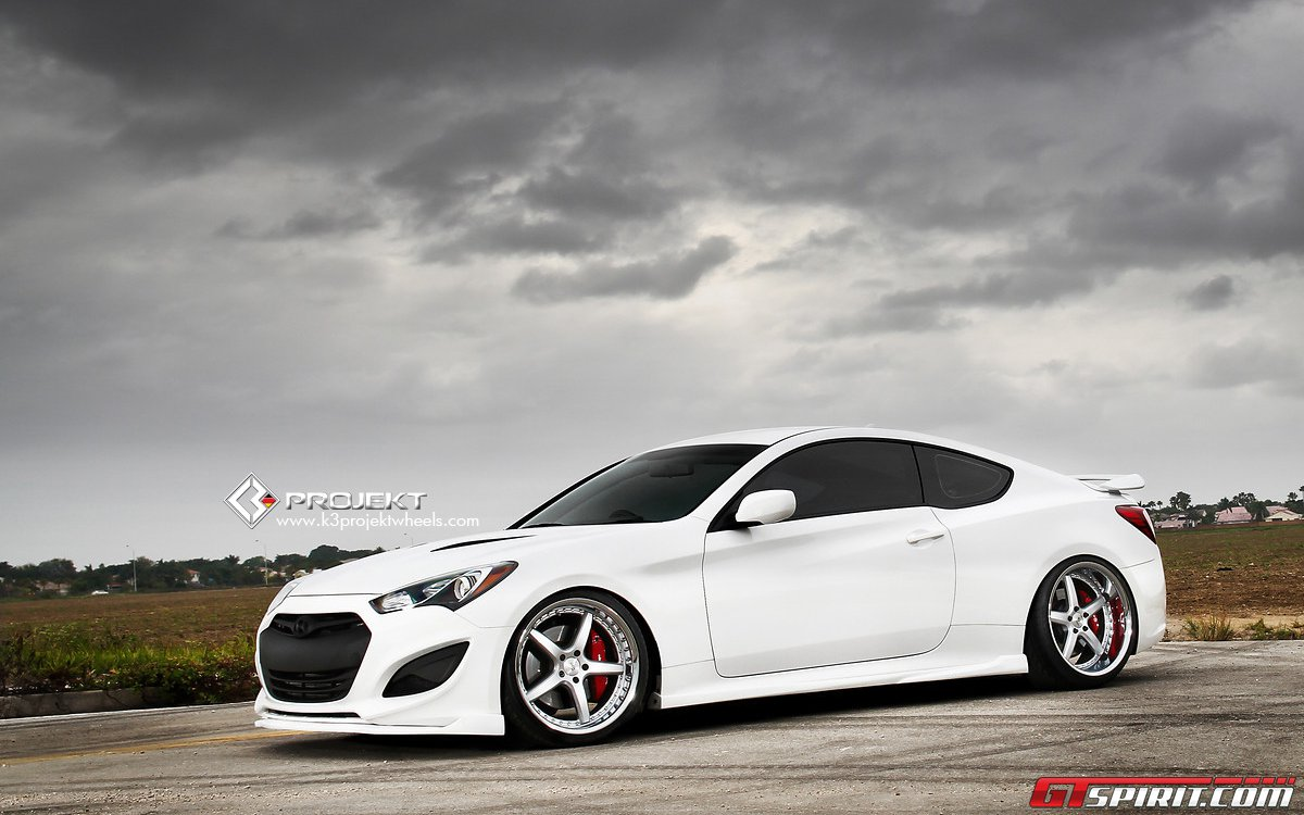 Video White Hyundai Genesis Coupe By K3 Projekt