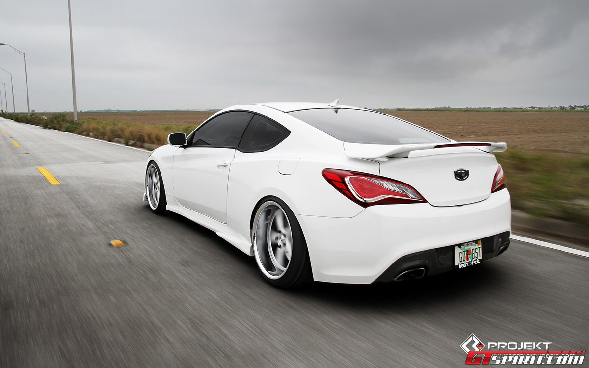 video white hyundai genesis coupe by k3 projekt. Black Bedroom Furniture Sets. Home Design Ideas