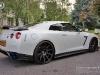 White Nissan GT-R on Black 22 Inch DPE Wheels