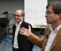 Martin and Friedhelm Wiesmann explaining during the factory tour
