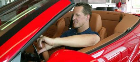 Michael Schumacher tests the Ferrari California GT