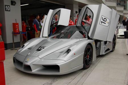 Silver Ferrari FXX