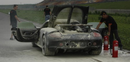 Porsche Carrera GT - Burned Down