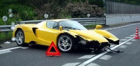Car Crash Ferrari Enzo Gtspirit