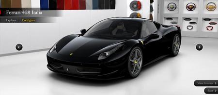 Ferrari 458 Italia Configurator