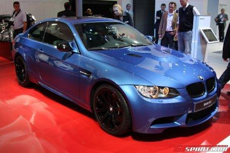 Blue BMW M3 with black wheels