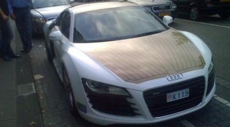 Audi R8 Teak wood