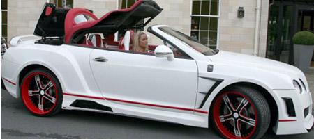 Stephen Ireland's Bentley Continental GTC