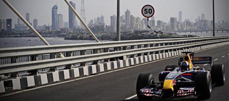 David Coulthard in Mumbai