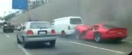 Car Crash Video Dodge Viper Totalled Gtspirit