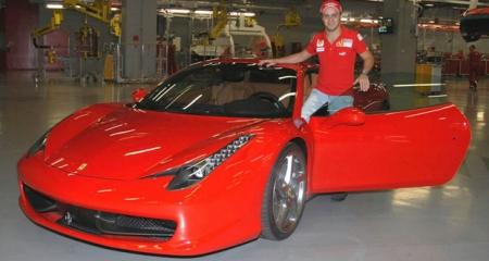 Felipe Massa meets Ferrari 458 Italia