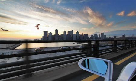 Gallardo LP560 Spyder New York Skyline