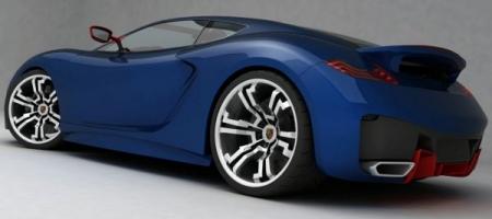 Rendering Porsche Supercar Concept