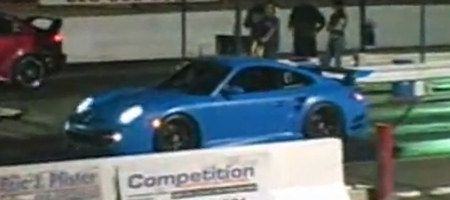Video Drag Race Vividracing Porsche 997 Twin-Turbo
