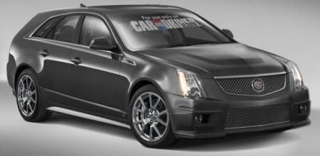 2010 Cadillac CTS-V Sport Wagon Caranddriver Rendering