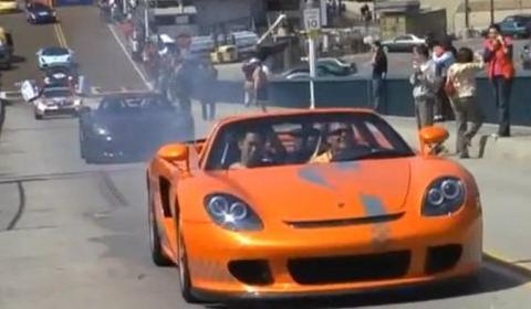 Porsche Carrera GT Burnout