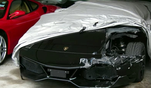 Lamborghini LP670-4 SV Car Crash