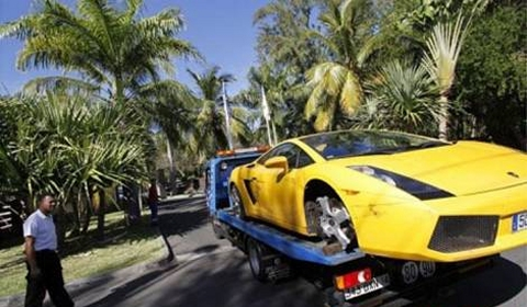 Car Crash Karim Benzema Writes off Lamborghini Gallardo 480x280