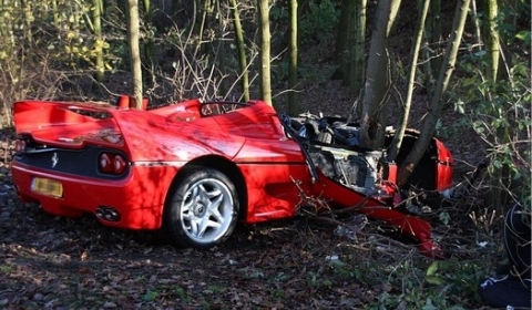 Car Crashes Ferrari F50 Crashed in Holland 480x280
